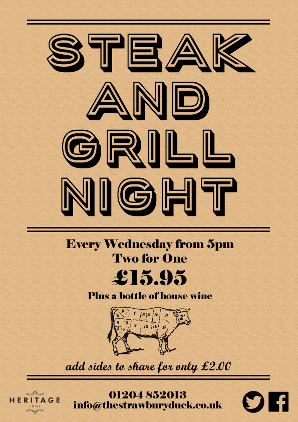 Wednesday - Steak & Grill Night